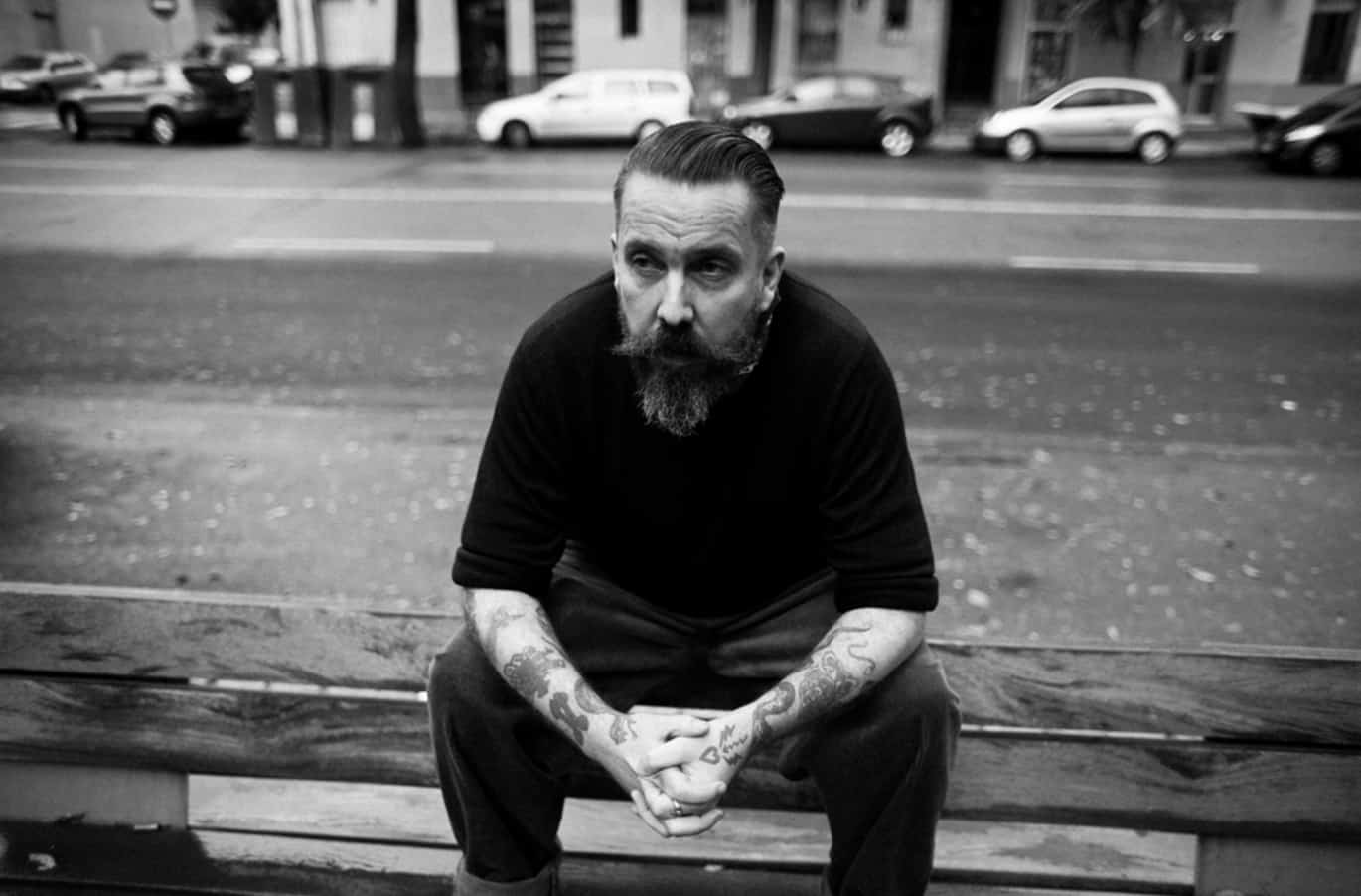 Andrew Weatherall black and white