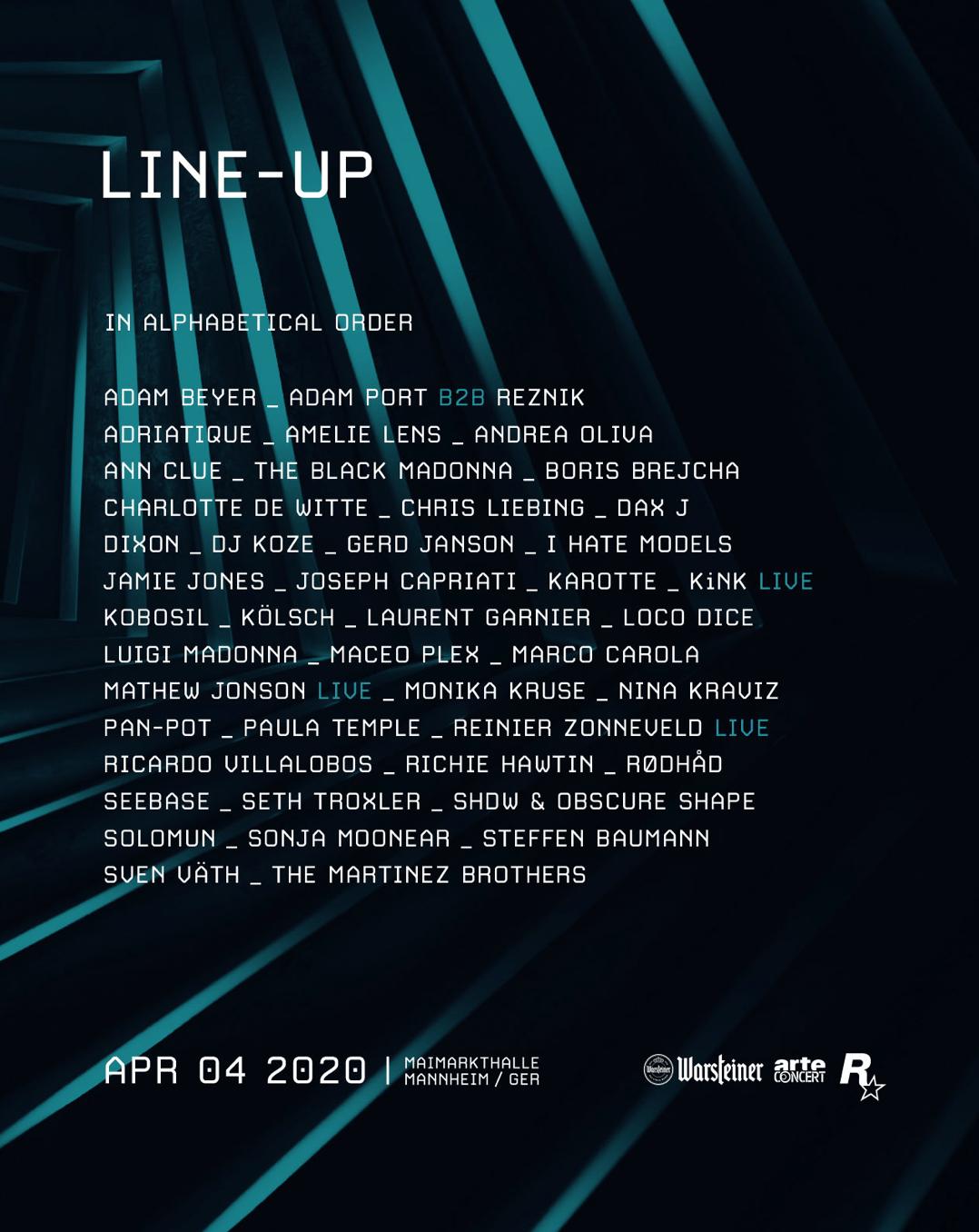 Time Warp 2020 Lineup Flyer