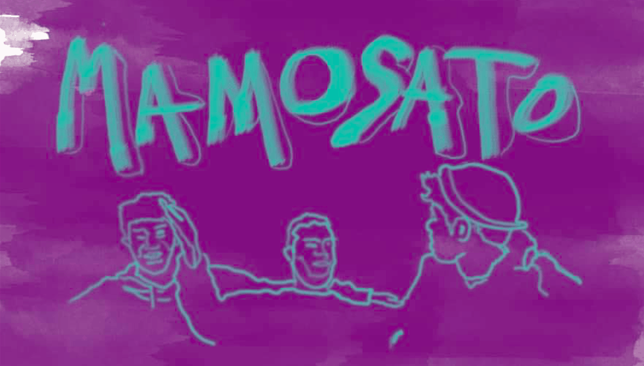 Mamosato purple turquoise sketch