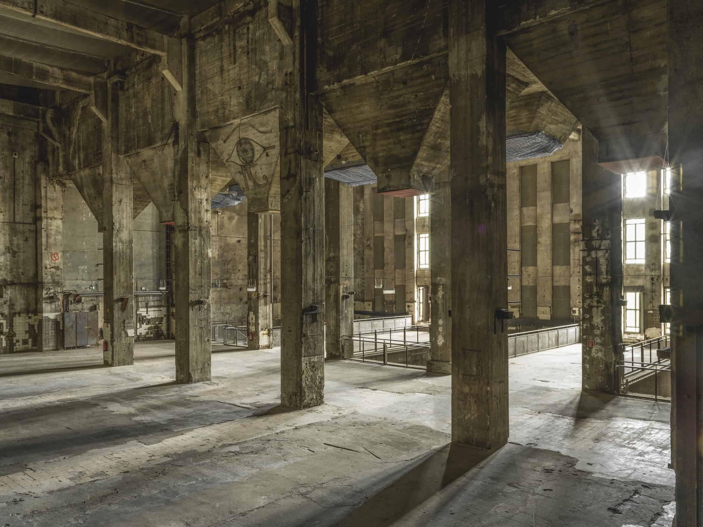 A photo inside Berghain taken by Roman März for sound art installation collective Singhur.
