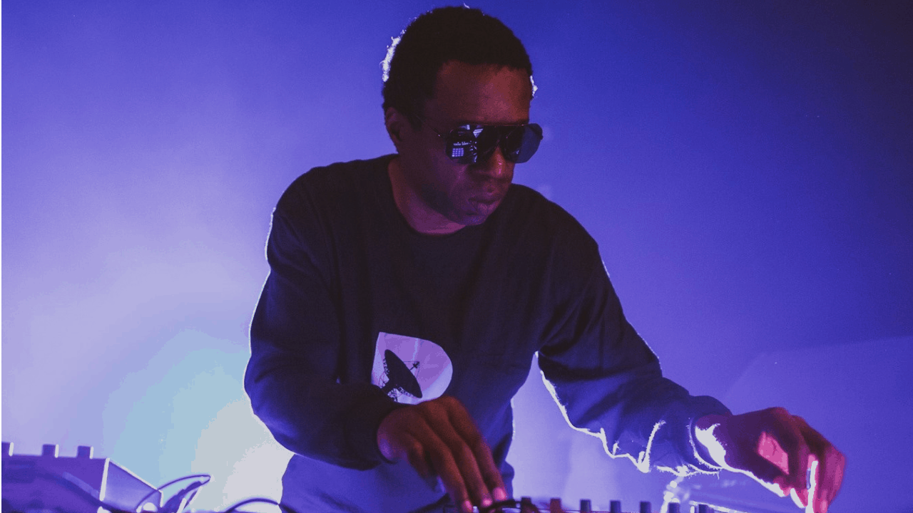 Detroit techno DJ and producer Terrence Dixon during a performance.