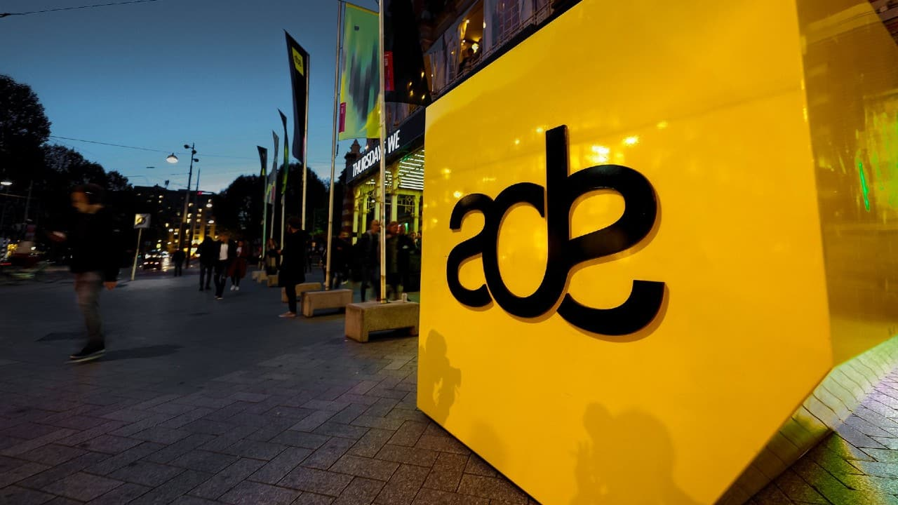 Amsterdam Dance Event ADE outdoor logo installation