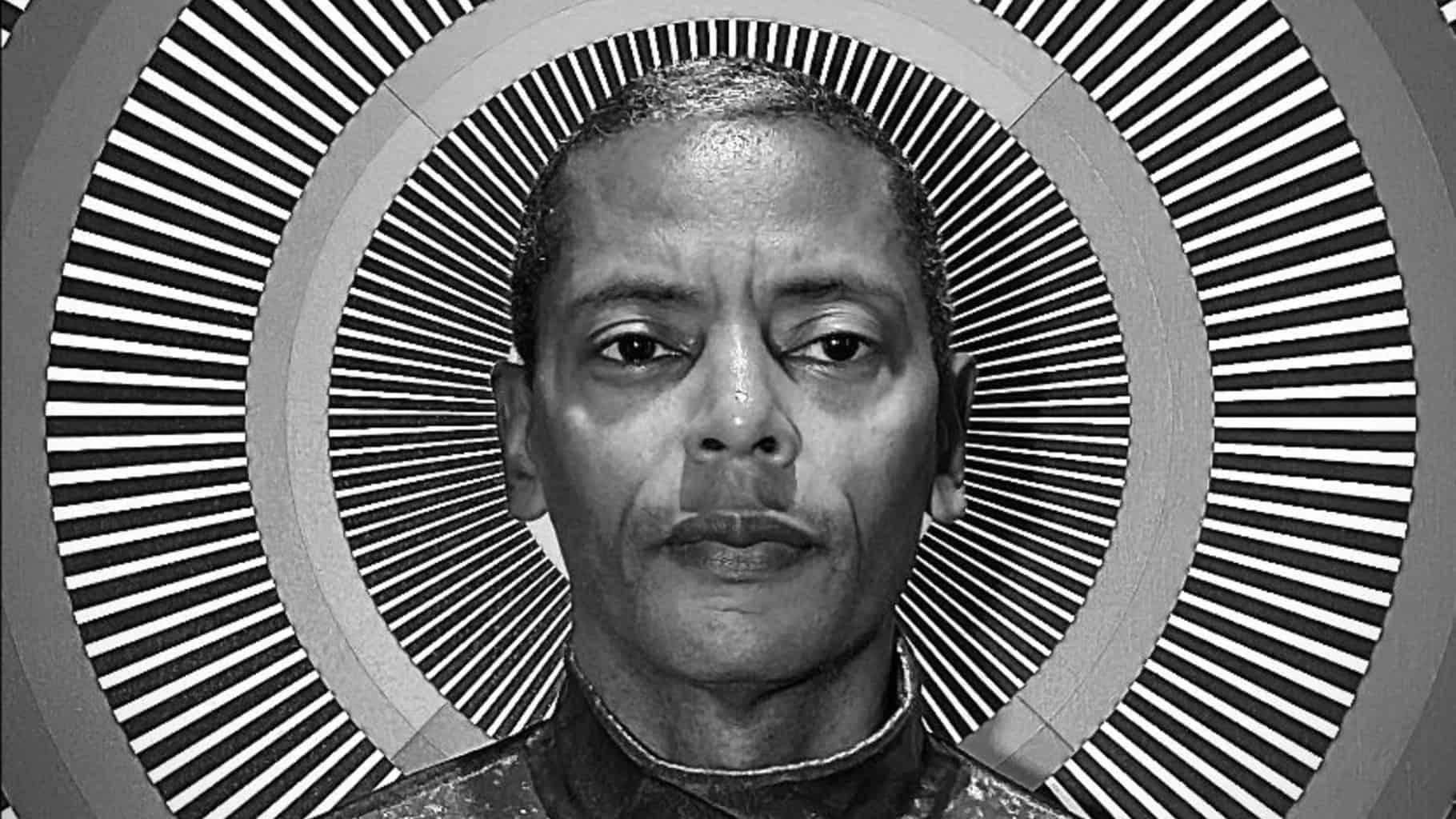 Jeff Mills black and white circular pattern