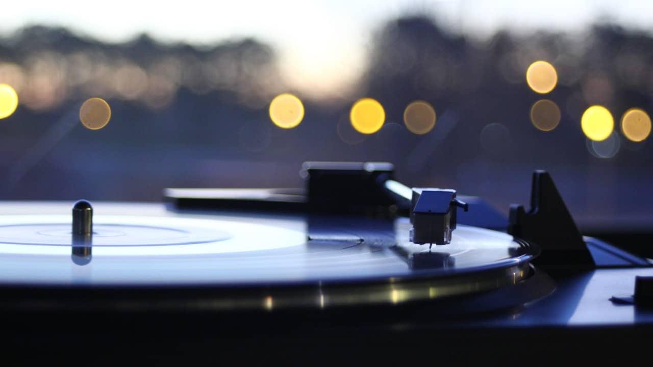 Vinyl record turntable bokeh background Bob Clark