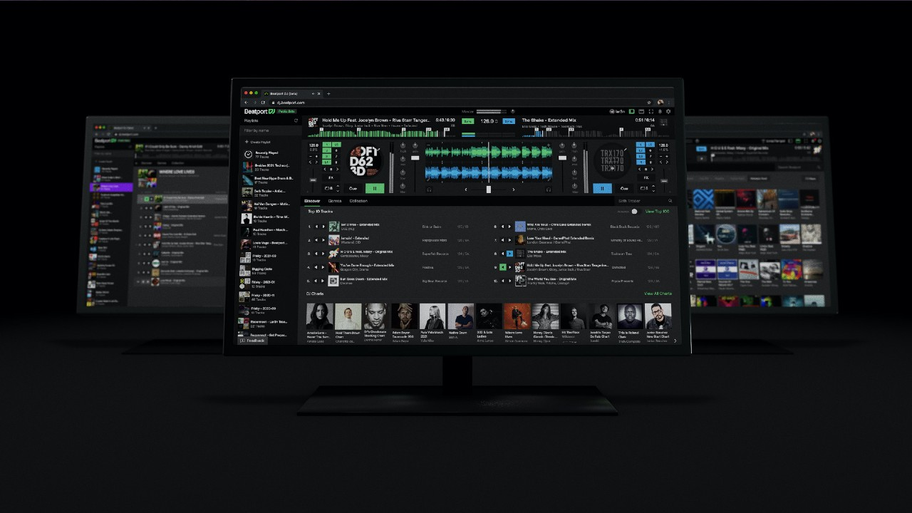 Beatport DJ monitor screens