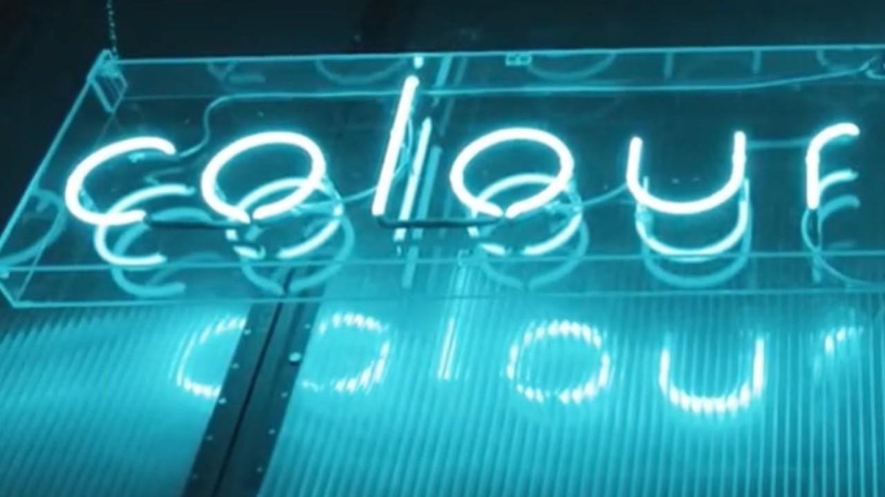 Colour Factory blue neon sign