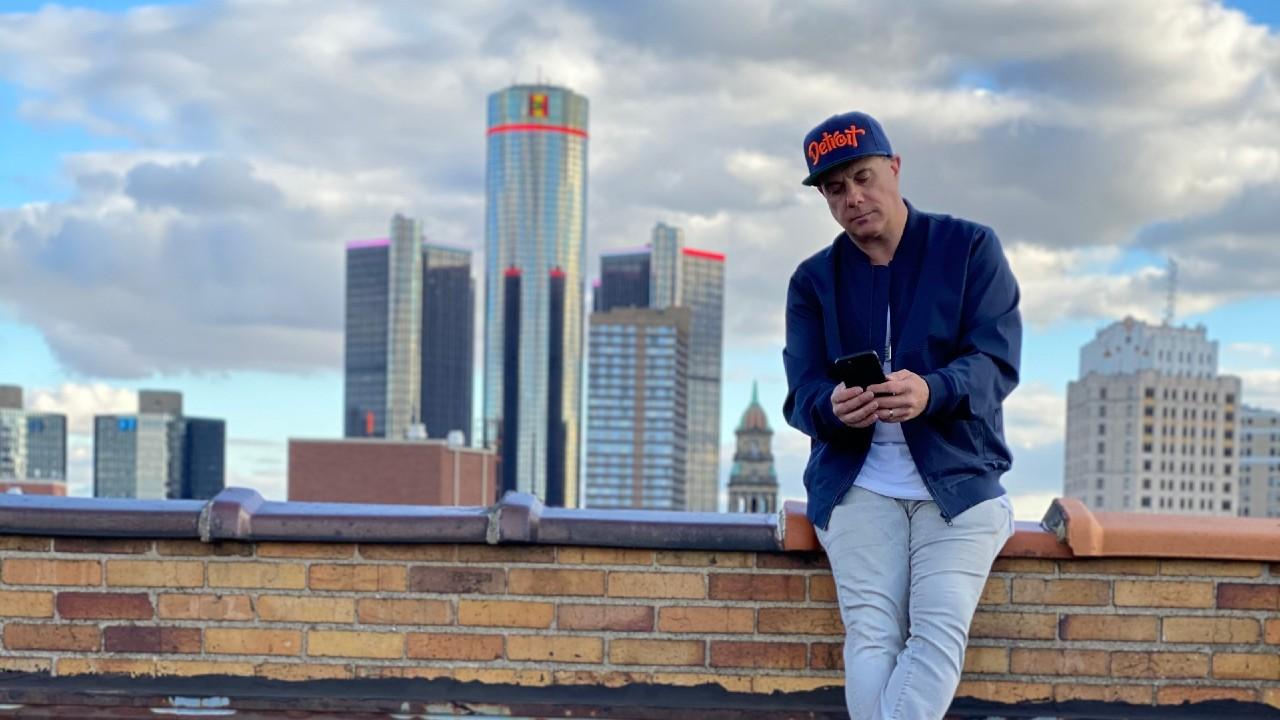 DJ Godfather Detroit skyline