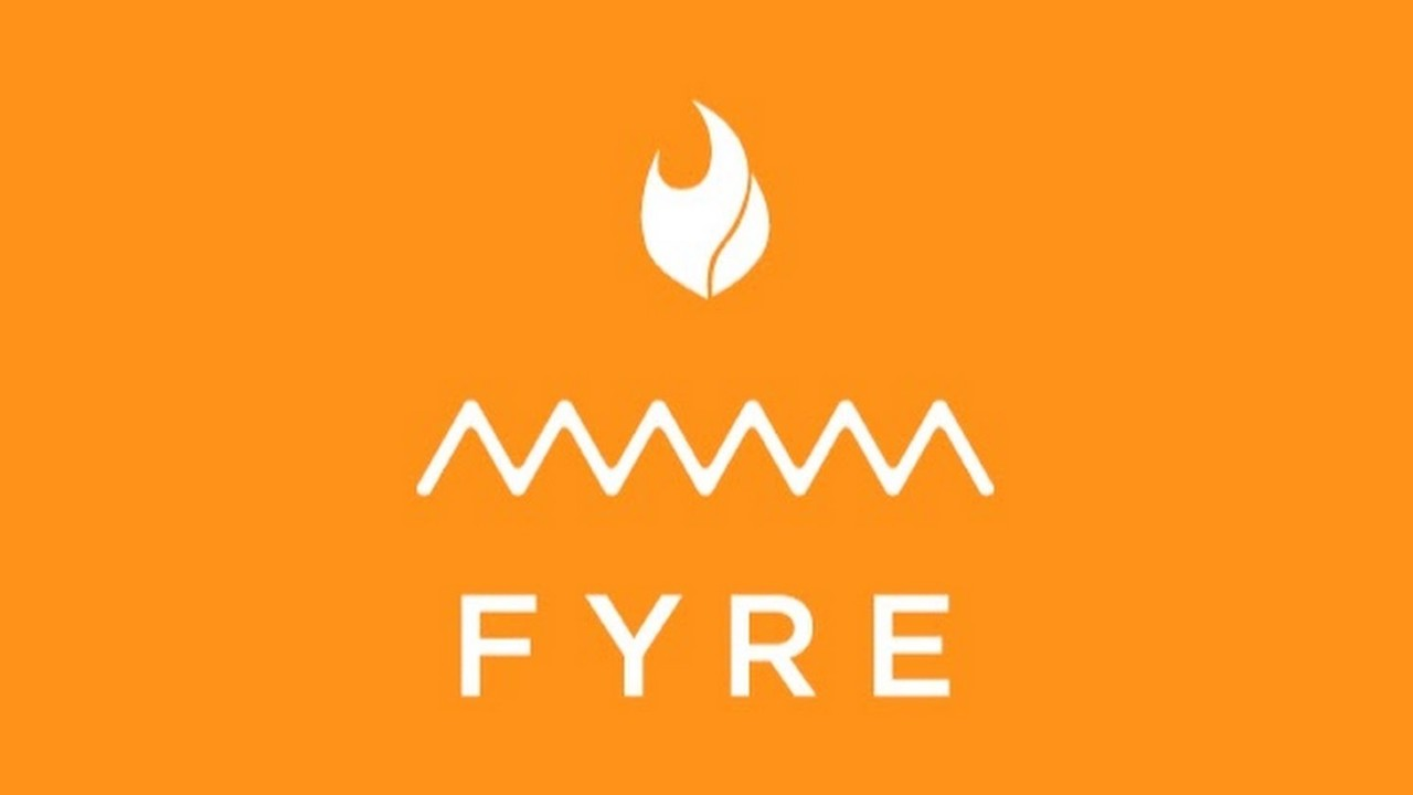 Fyre Festival logo orange white