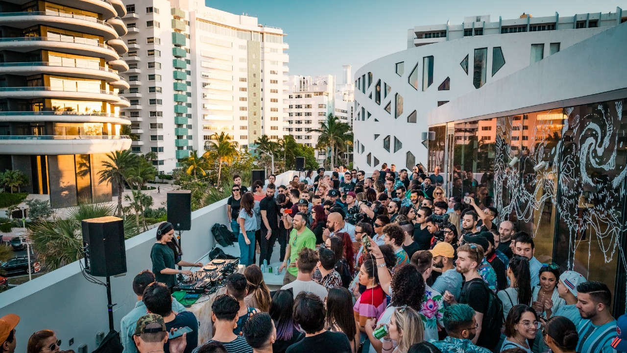 Winter Music Conference rooftop party 2019