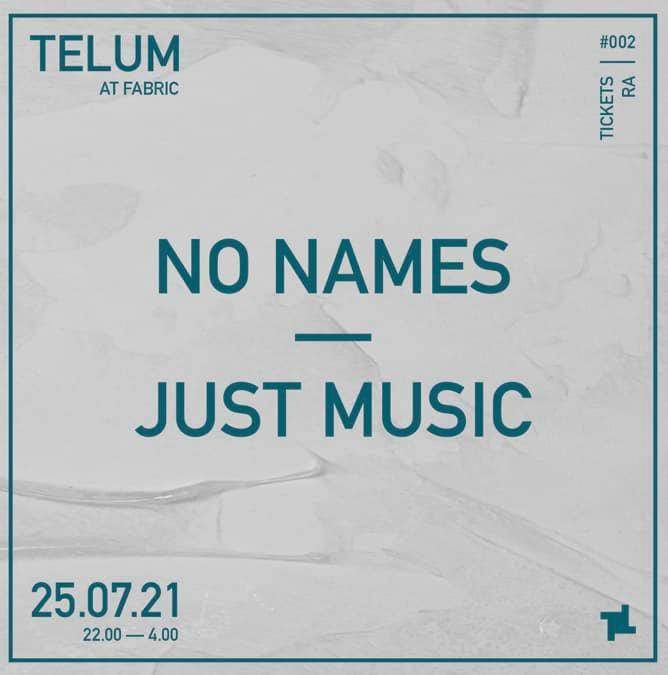 No Names - Just Music, Flyer
