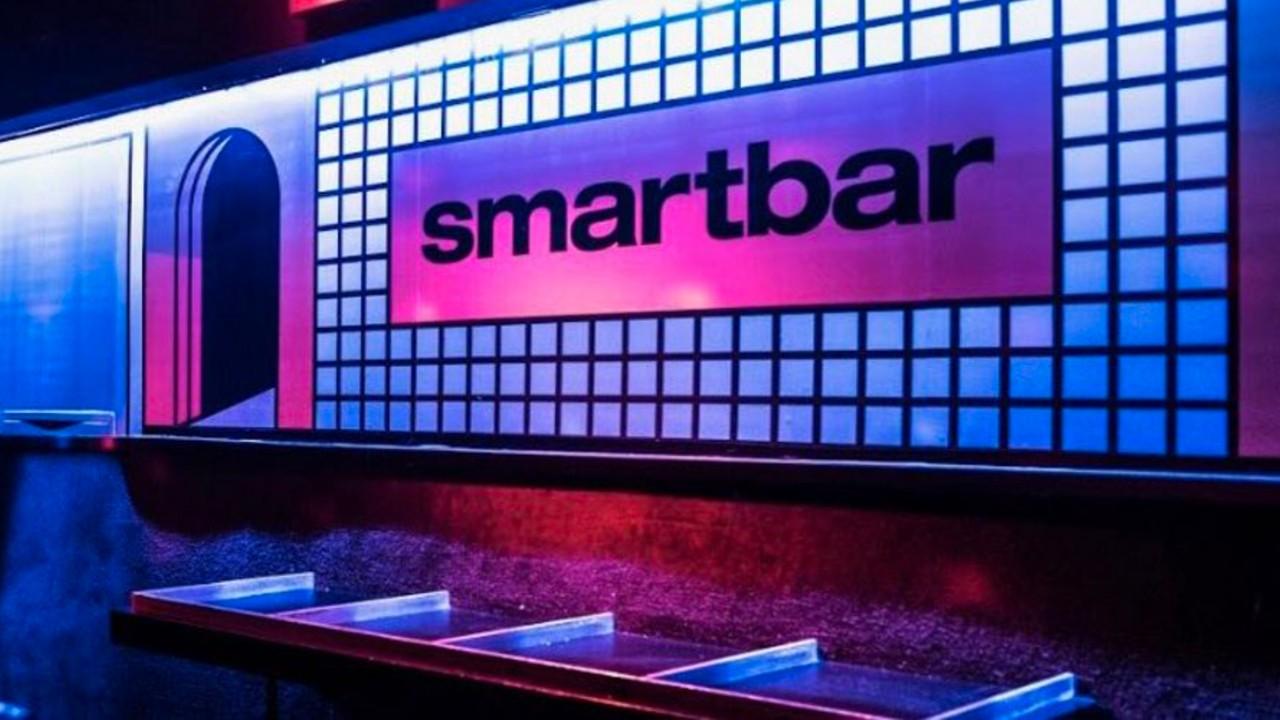 Smartbar Chicago sign DJ booth