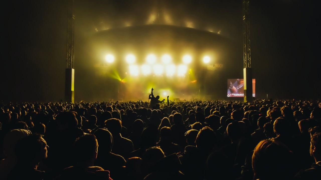 Festival nightlife crowd Tijs Van Leur