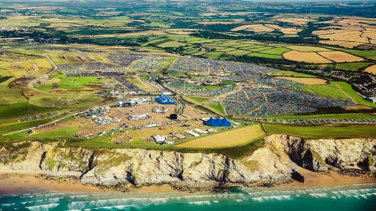 Boardmasters Corning U.K. festival overhead