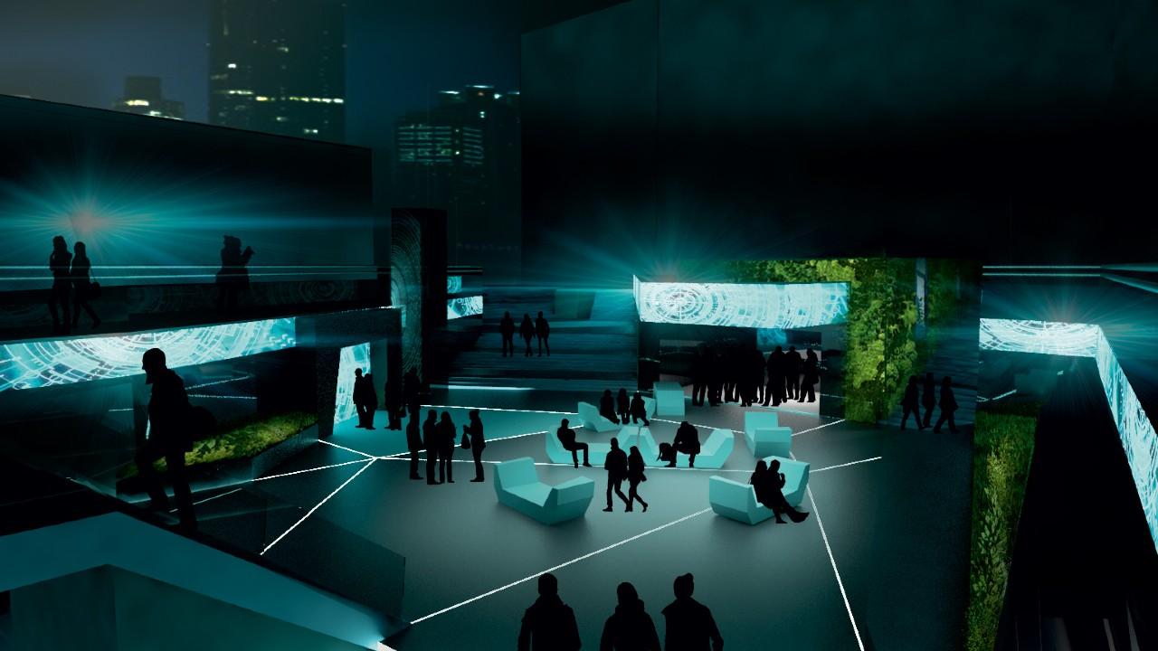 Museum of Modern Electronic Music (MOMEM) artist rendering