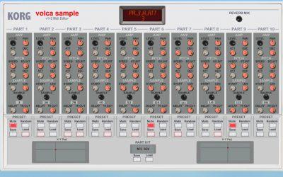 Momo Müller's Volca Sample Editor Controls Hardware Settings Virtually