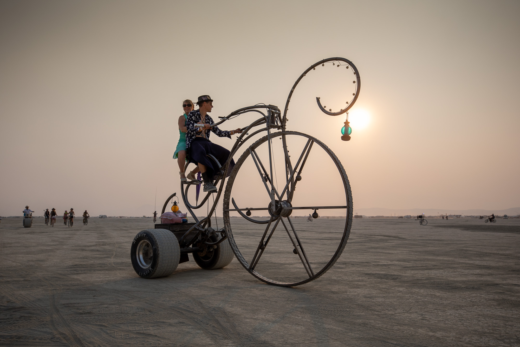 Burning Man 2021 couple bicycle