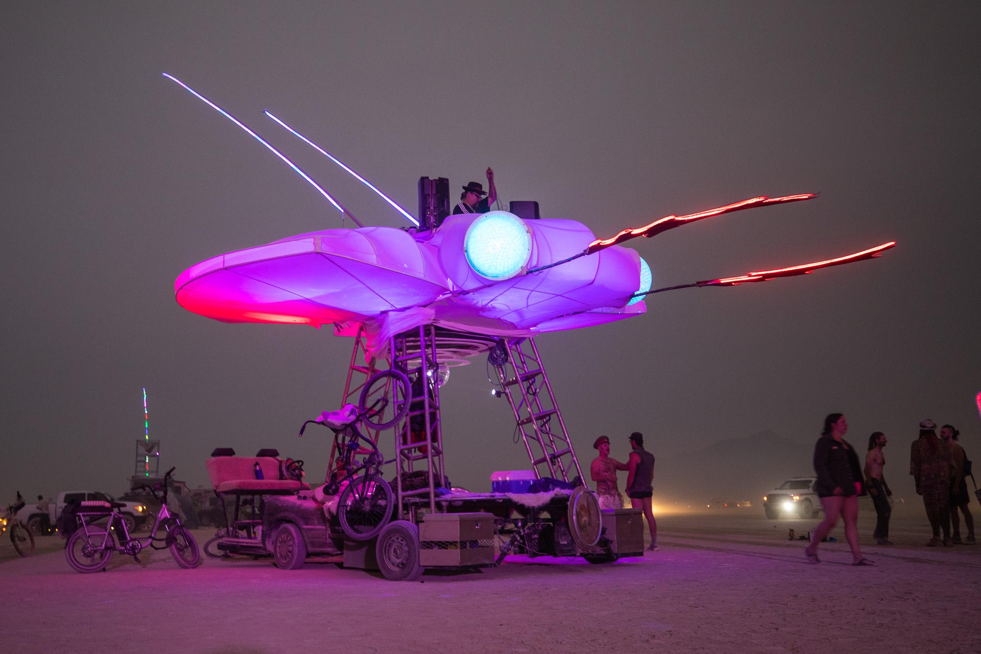 Burning Man 2021 dragonfly art car