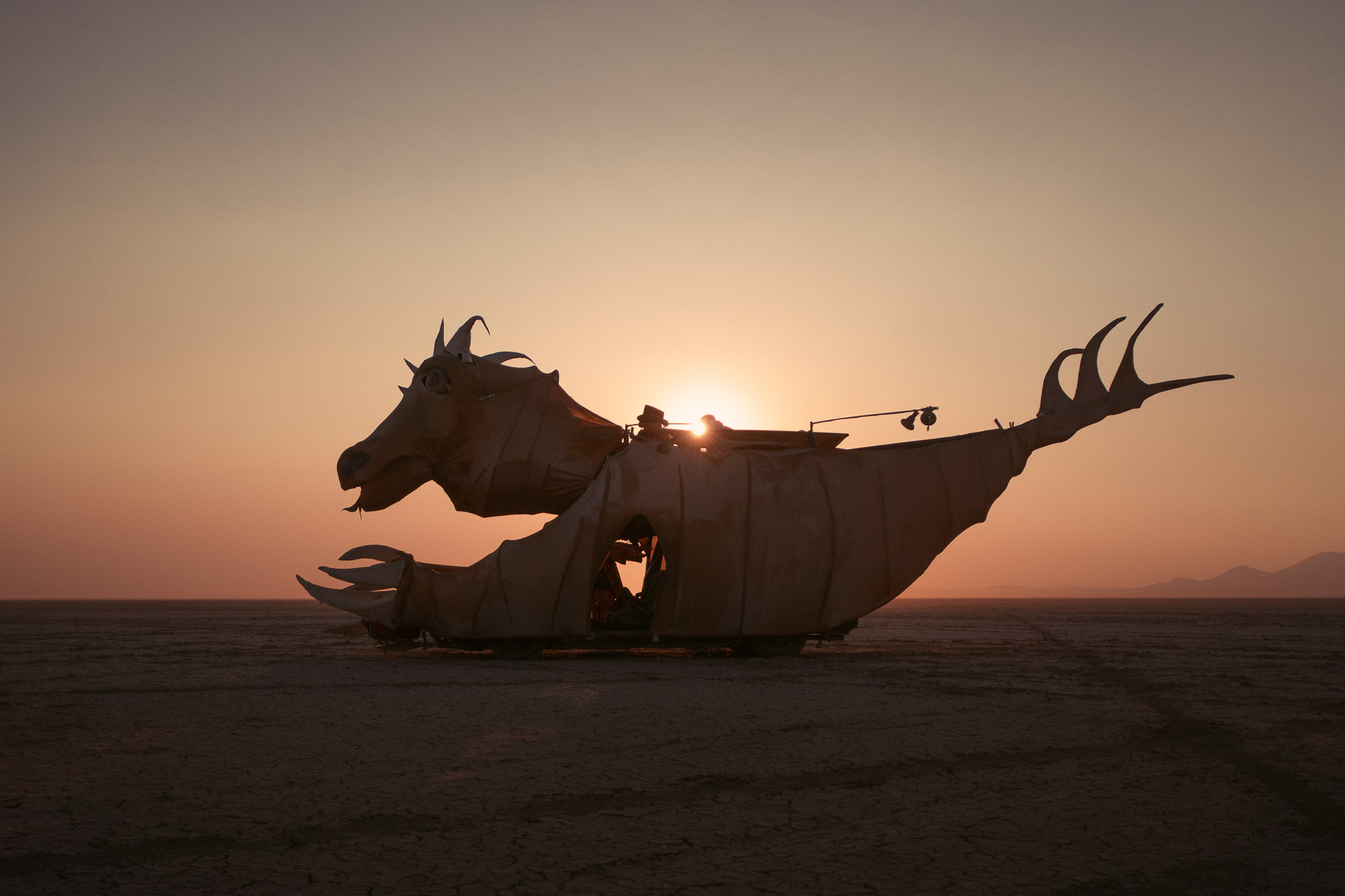Burning Man 2021 sunset art car